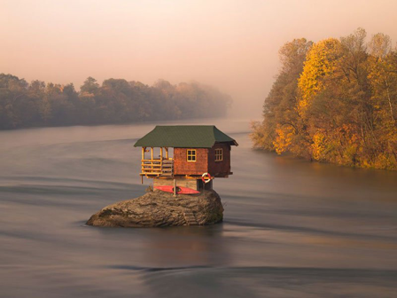 A River House in Siberia